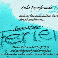 Sommerpause 2016.2